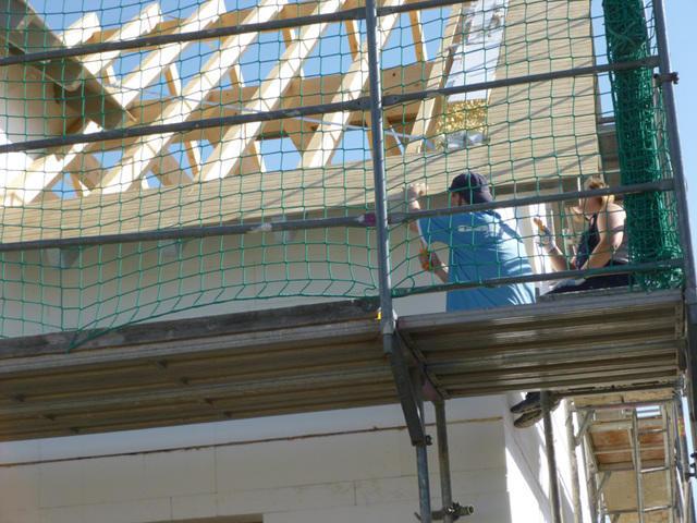 Dachüberstände streichen