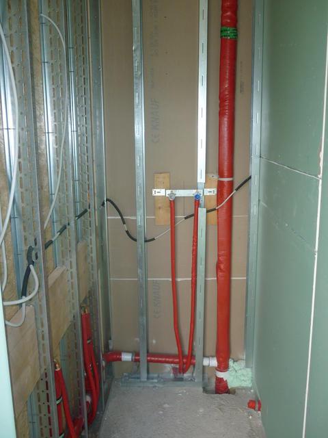 Hier ein Blick in unsere zukünftige Dusche.